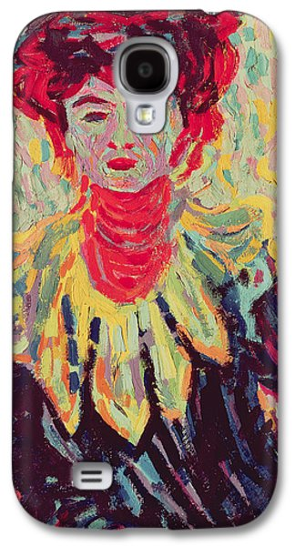 Dodo Or Isabella With A Ruffed Collar Galaxy S4 Case by Ernst Ludwig Kirchner
