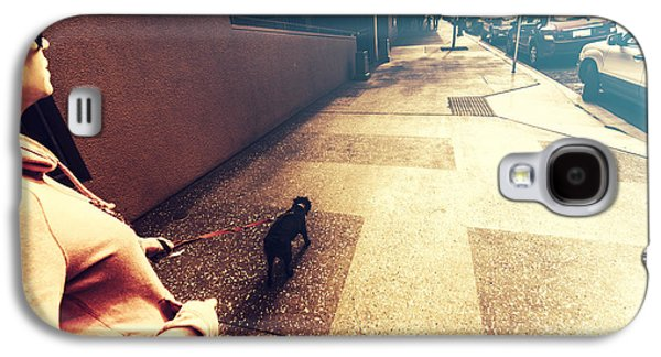 Dog Assisting Blind Woman On Urban Street Galaxy S4 Case by Jorgo Photography - Wall Art Gallery