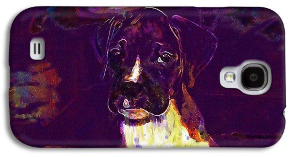 Dog Look Boxer Dog Puppy  Galaxy S4 Case