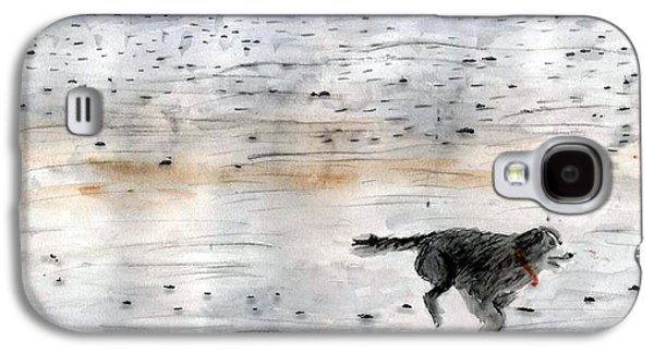 Dog On Beach Galaxy S4 Case