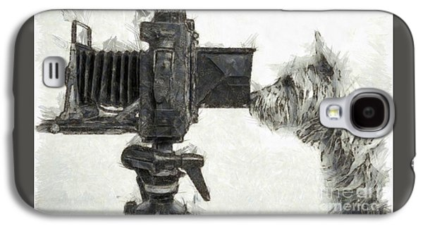 Dog Photographer Pencil Galaxy S4 Case