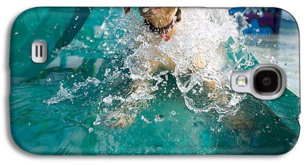 Dog Splashing In Water Galaxy S4 Case by Gillham Studios