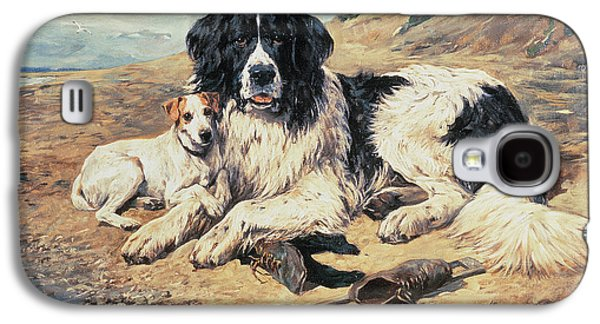 Dogs Watching Bathers Galaxy S4 Case by John Emms