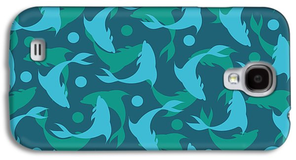 Dolphins In Blue  Galaxy S4 Case