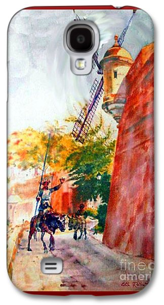 Old Town Galaxy S4 Case - Don Quixote In San Juan by Estela Robles