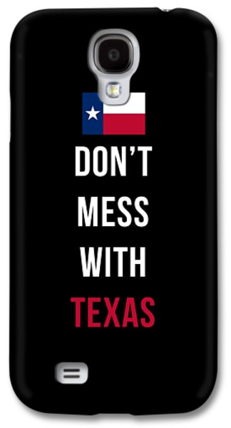 Don't Mess With Texas Tee Black Galaxy S4 Case