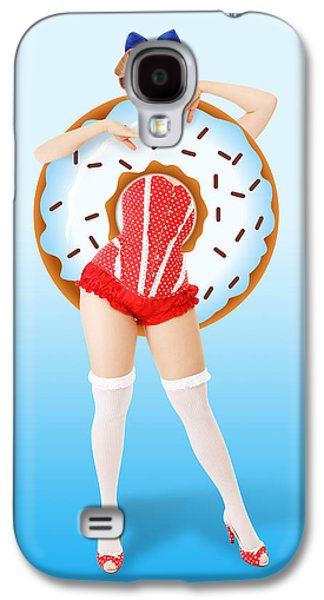 Donuts Woman Galaxy S4 Case