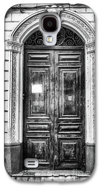 Doors Of Cuba Green Door Bw Galaxy S4 Case