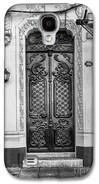 Doors Of Cuba Yellow Door Bw Galaxy S4 Case
