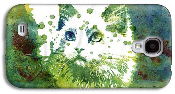 Dotted Cat Galaxy S4 Case by Jutta Maria Pusl