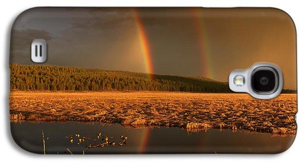 Secondary Rainbow Reflection Galaxy S4 Case by Leland D Howard