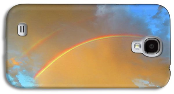Double Rainbows In The Desert Galaxy S4 Case