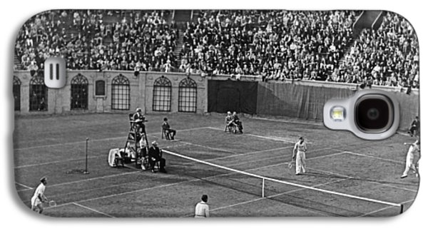 Doubles Tennis At Forest Hills Galaxy S4 Case by Underwood Archives