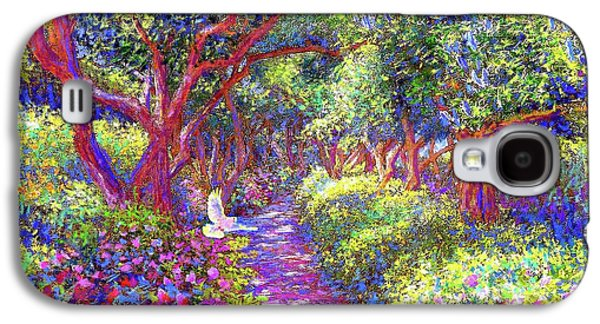 Dove And Healing Garden Galaxy S4 Case by Jane Small