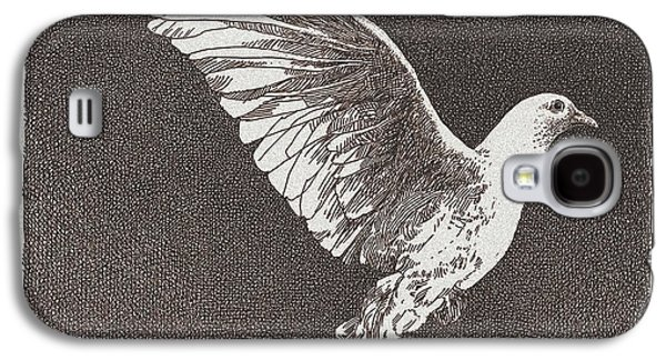 Dove Drawing Galaxy S4 Case by William Beauchamp