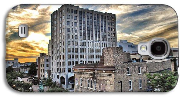 Downtown Appleton Skyline Galaxy S4 Case by Mark David Zahn