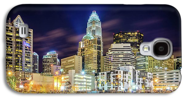 Downtown Charlotte North Carolina City At Night Galaxy S4 Case by Paul Velgos