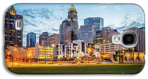 Downtown Charlotte Skyline At Dusk Galaxy S4 Case by Paul Velgos