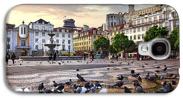 Ancient Galaxy S4 Cases - Downtown Lisbon Galaxy S4 Case by Carlos Caetano