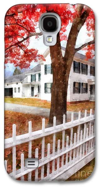 Downtown Norwich Vermont Picket Fence Galaxy S4 Case