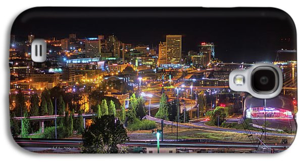 Downtown Tacoma Night Galaxy S4 Case