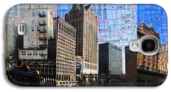 Downtown Trio W Map Galaxy S4 Case