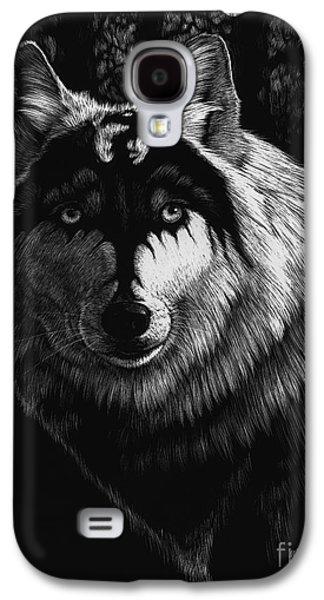Dragon Galaxy S4 Case - Dragon Wolf by Stanley Morrison