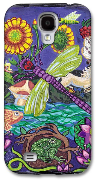 Lilly Pad Galaxy S4 Cases - Dragonfly and Unicorn Galaxy S4 Case by Genevieve Esson
