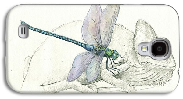 Dragonfly With Chameleon Galaxy S4 Case