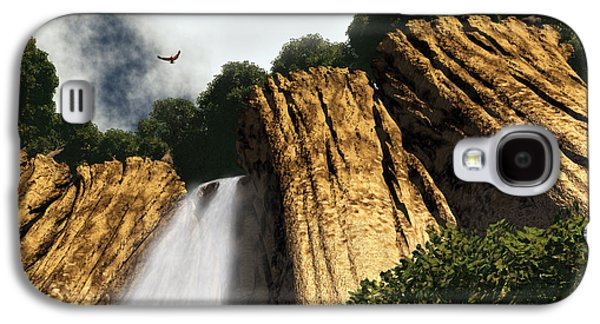 Digital Art Galaxy S4 Cases - Dragons Den Canyon Galaxy S4 Case by Richard Rizzo