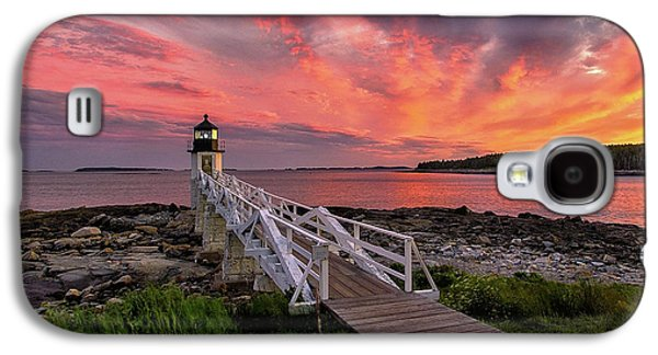 Dramatic Sunset At Marshall Point Lighthouse Galaxy S4 Case