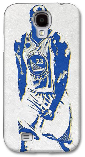 Draymond Green Golden State Warriors Pixel Art Galaxy S4 Case by Joe Hamilton