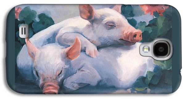 Dream Away Piglets Galaxy S4 Case by Laurie Hein