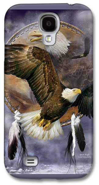 Dream Catcher - Spirit Eagle Galaxy S4 Case by Carol Cavalaris