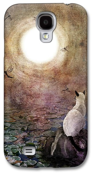 Cats Digital Art Galaxy S4 Cases - Dreaming of a Koi Pond Galaxy S4 Case by Laura Iverson
