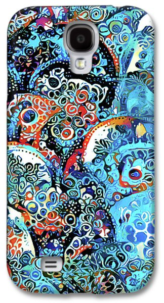 Dreams In Blue Ornamental Abstract Woman Galaxy S4 Case by Georgiana Romanovna