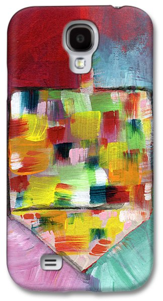 Dreidel Of Many Colors- Art By Linda Woods Galaxy S4 Case by Linda Woods