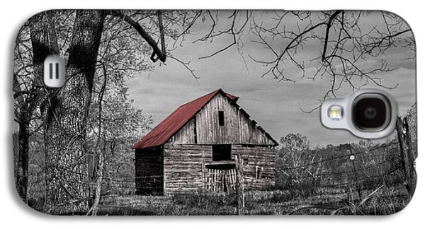 Tn Barn Galaxy S4 Cases - Dressed In Red Galaxy S4 Case by Debra and Dave Vanderlaan