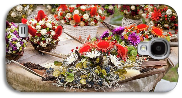 Dried Flowers Arrangements At Fair Galaxy S4 Case by Arletta Cwalina