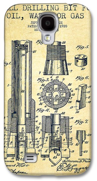 Drilling Bit For Oil Water Gas Patent From 1920 - Vintage Galaxy S4 Case by Aged Pixel
