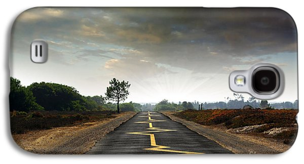 Asphalt Galaxy S4 Cases - Drive Safely Galaxy S4 Case by Carlos Caetano