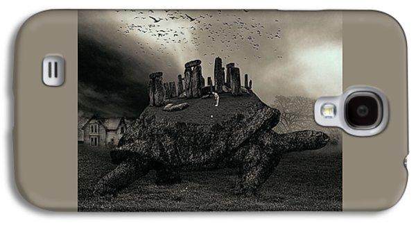 Druid Golf Black And White Galaxy S4 Case by Marian Voicu