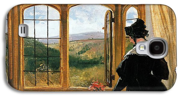 Duchess Of Abercorn Looking Out Of A Window Galaxy S4 Case by Sir Edwin Landseer