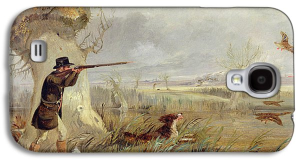 Duck Shooting  Galaxy S4 Case by Henry Thomas Alken