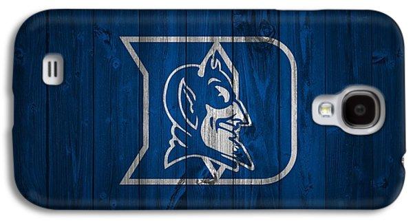 Duke Blue Devils Barn Door Galaxy S4 Case by Dan Sproul