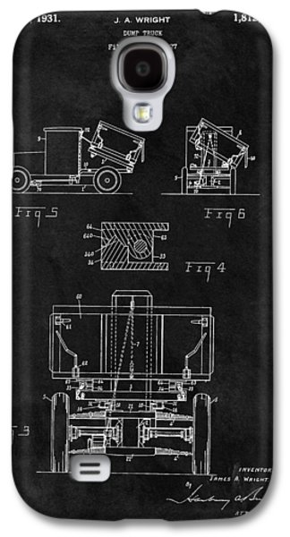 Dump Truck Patent Galaxy S4 Case by Dan Sproul