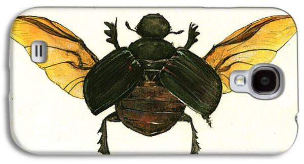 Dung Beetle Galaxy S4 Case by Juan Bosco