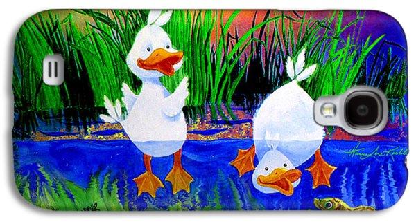 Dunking Duckies Galaxy S4 Case by Hanne Lore Koehler