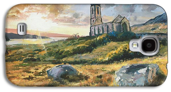 Sun Rays Paintings Galaxy S4 Cases - Dunlewy Church Galaxy S4 Case by Conor McGuire