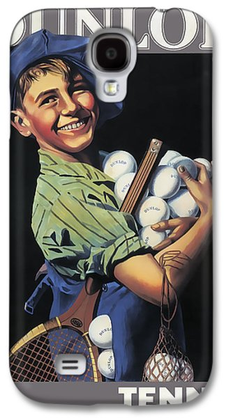 Dunlop Tennis Ball Boy  C. 1920 Galaxy S4 Case by Daniel Hagerman